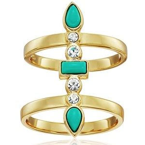 jules smith // gold and turquoise statement ring